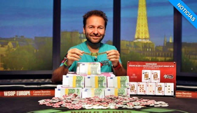 Daniel Negreanu gana el WSOP Europe High Roller, su sexto brazalete y el Player Of the Year