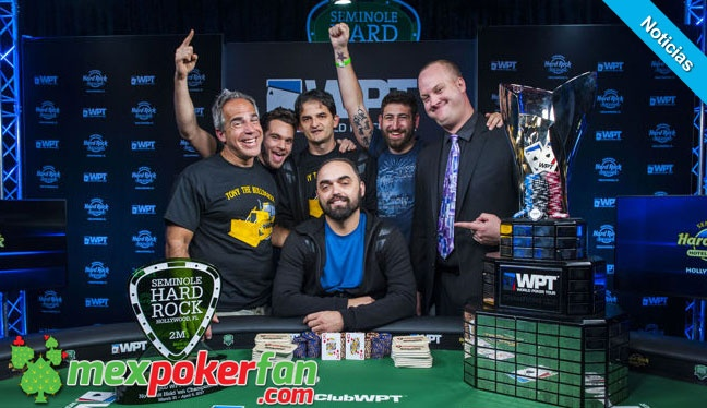 Tony Sinishtaj gana el WPT Seminole Hard Rock Poker Showdown
