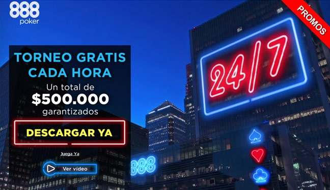888Poker te da 24 Horas de FreeRolls!